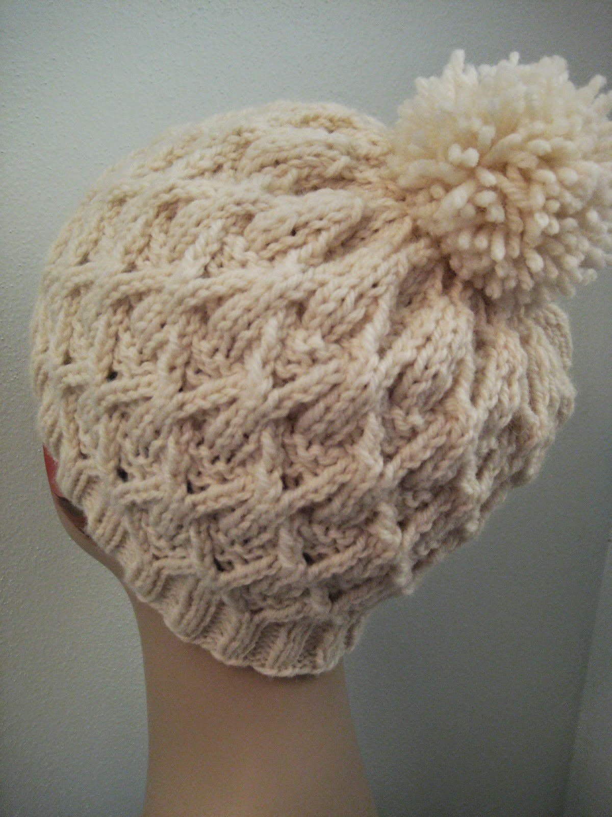 Easy Knit Hat Pattern Circular Needles : Balls to the Walls Knits: Wickerwork Hat