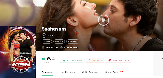 Saahasam (2016) Tamil Movie 700Mb & 300mb Free