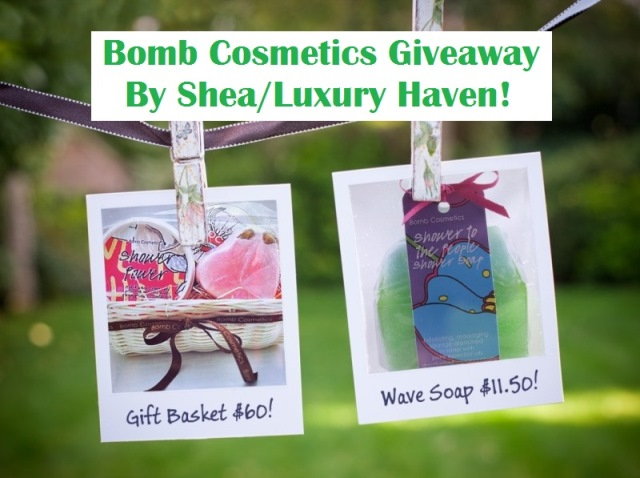 shea bomb cosmetics giveaways