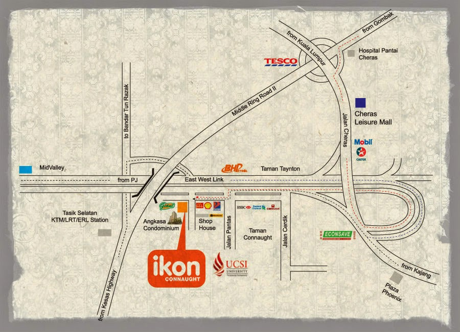 Ikon Connaught location map