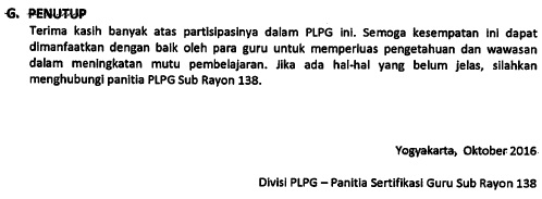 Pedoman PLPG 2016