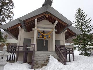 蔵王温泉の酢川温泉神社の本殿