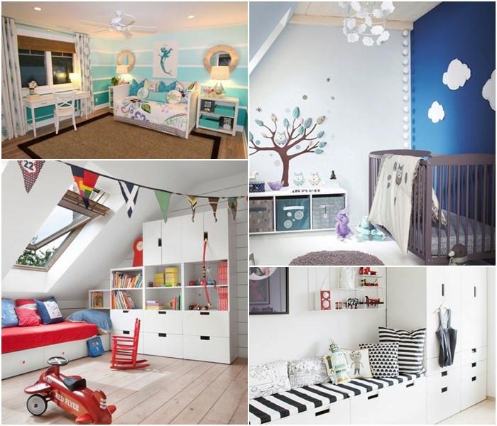 pokoje dla chłopców, IKEA, pokój morski