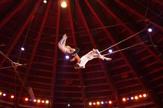 Trapecistas del Circus Krone.