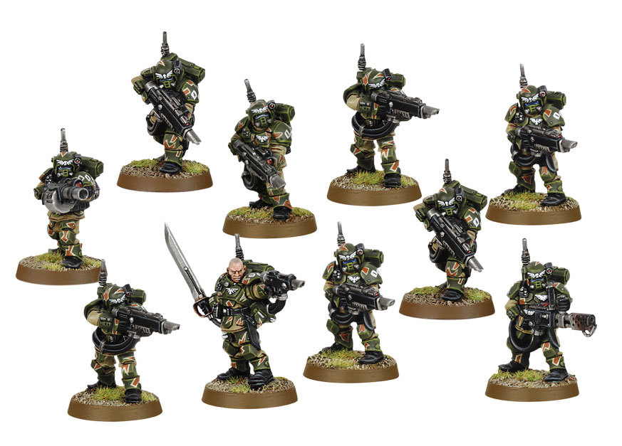 RESPIRATORS x 5 Imperial Guard Cadian Command GAS MASKS Astra Militarum 40K