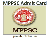 MPPSC Admit Card