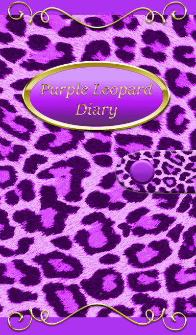 Purple leopard pattern diary