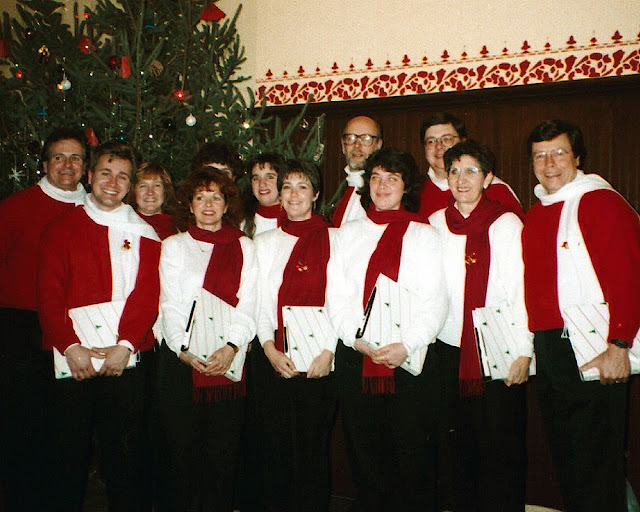 Stairwell Carollers at Cumberland museum in the early 90's