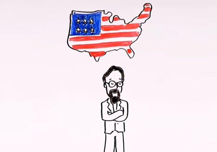 ABD bayrağı çizimi oldukça basitti, birkaç günde bayrak çizmesini öğrenmişti.