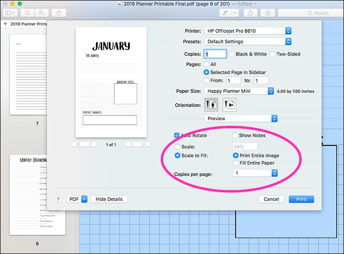 How to Resize Printables to Fit Any Happy Planner Size (with VIDEO