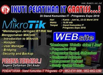 Komunitas IT Pringsewu Adakan Pelatihan Mikrotik dan Wbsite Gratis di Pringsewu Expo