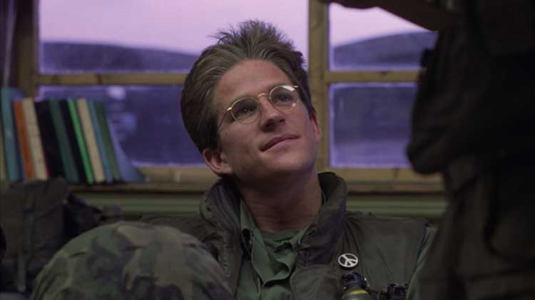 Matthew Modine stars in Full Metal Jacket from Stanley Kubrick.
