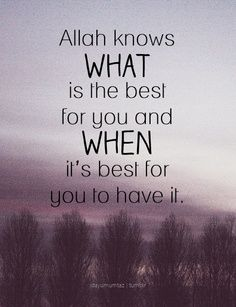 Allah knows what is the best for you - quote