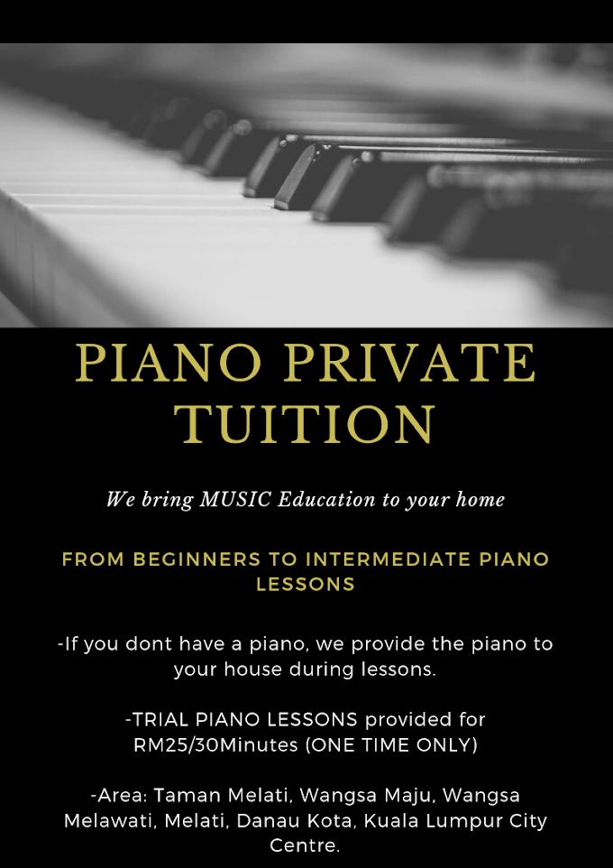 PIANO PRIVATE TUTOR @ WANGSA MAJU