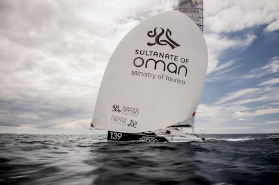 Vincent Riou en Class40 avec Oman Sail