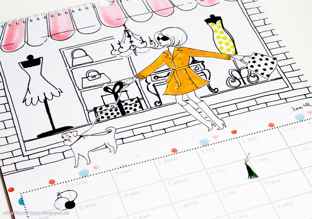 Dottie Polkas Vintage Welt Kalender 2015