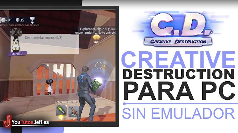 Como Descargar CREATIVE DESTRUCTION para PC SIN EMULADOR - Igual que FORTNITE