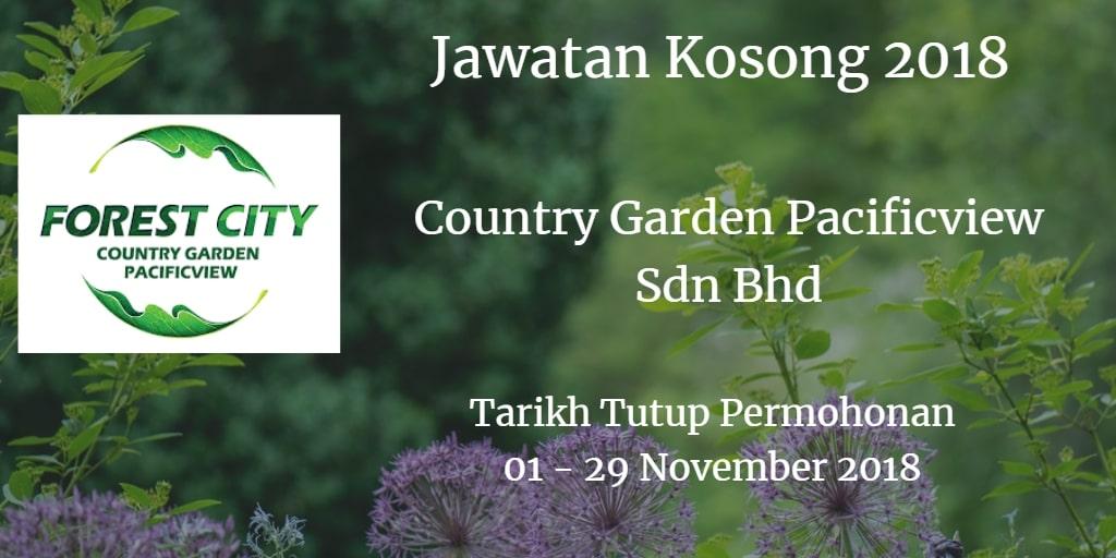 Jawatan Kosong Country Garden Pacificview Sdn Bhd 01 - 29 November 2018