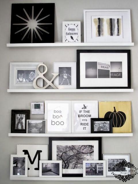 Como decorar paredes con cuadros cocochicdeco - Baldas para cuadros ...