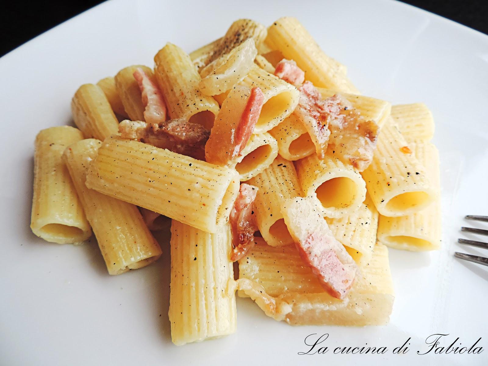 Rigatoni alla gricia la cucina di fabiola for Ricette romane antiche
