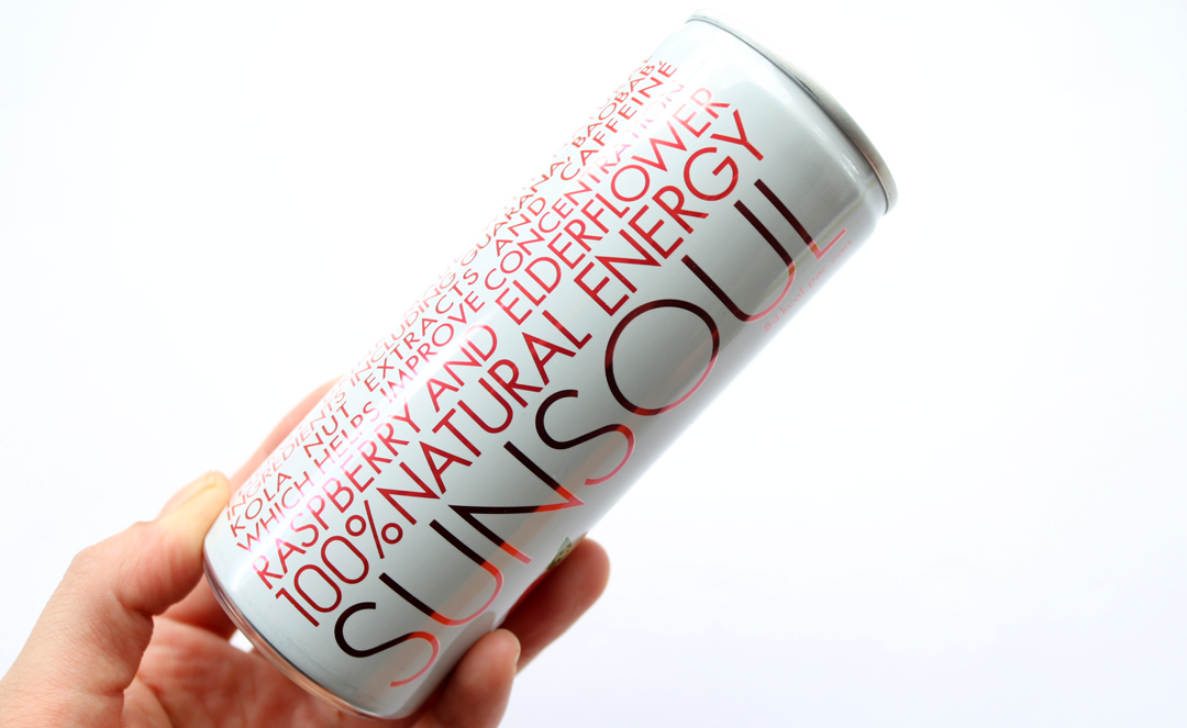 Sunsoul Raspberry & Elderflower 100% Natural Energy Drink