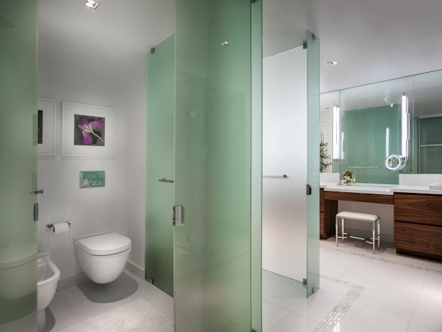 FROSTED GLASS TOILET PARTITIONS NEW YORK