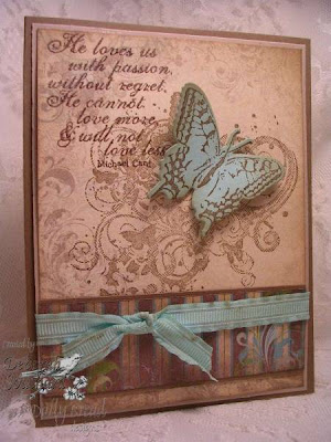 "Our Daily Bread designs ""God's Love"", ""2-step Butterfly"", ""Grunge Butterfly Die"" Designer Debi Southard"