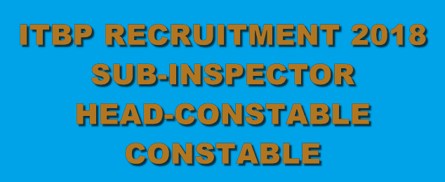 आईटीबीपी ITBP Online SI, ASI, Head Constable, Constable @ Recruitment.itbppolice.nic.in
