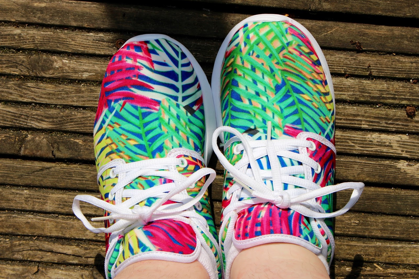 tropical print trainers simply be