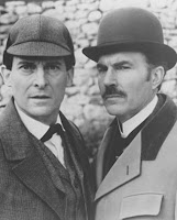 Jeremy Brett and David Burke as Sherlock Holmes and Dr Watson in the Granada Adaptation