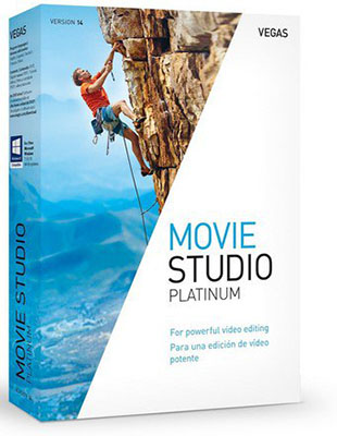 MAGIX VEGAS Movie Studio Platinum 14.0.0.122 poster box cover