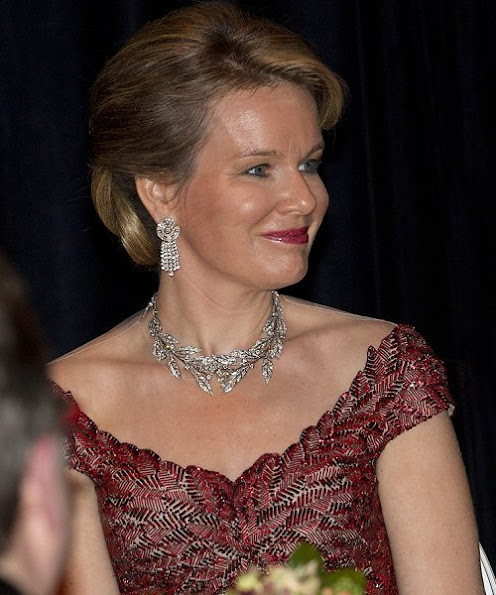Queen Maxima wore Valentino Garavani Gown, Queen Mathilde wore Jan Taminiau Gown