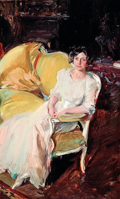 Clotilde Sitting on the Sofa