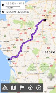 GPS pour le vélo AlpineQuest