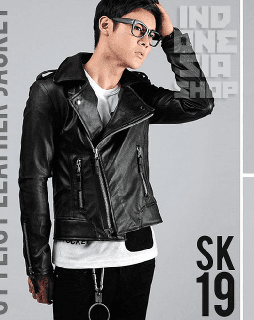 indonesia shop sk19 korean biker jacket style