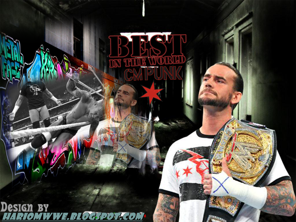 New wwe champion cm punk wallpaper hariomwwespot download cm punk wallpaper right click and save picture as cm punk wallpaper designed by hariom like us facebook voltagebd Choice Image