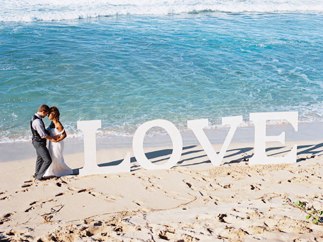 Maui beach wedding Love