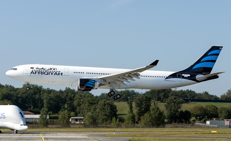 Afriqiyah Airways of Airbus A330-300 Approaching Landing Phase