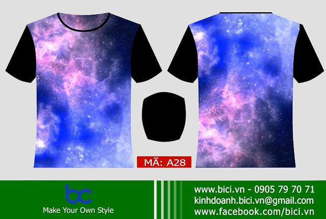 mẫu áo lớp galaxy chất