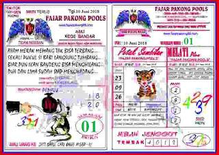 Prediksi Kode Syair Fajar Pakong pools 10 Juni 2018