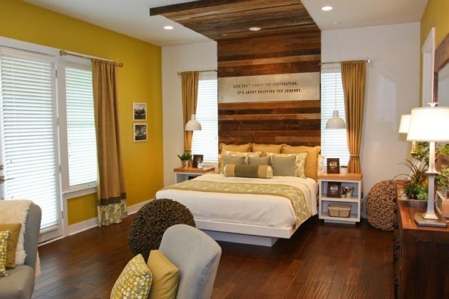 wandgestaltung schlafzimmer gelb | small modern and minimalist houses - Wandgestaltung Schlafzimmer