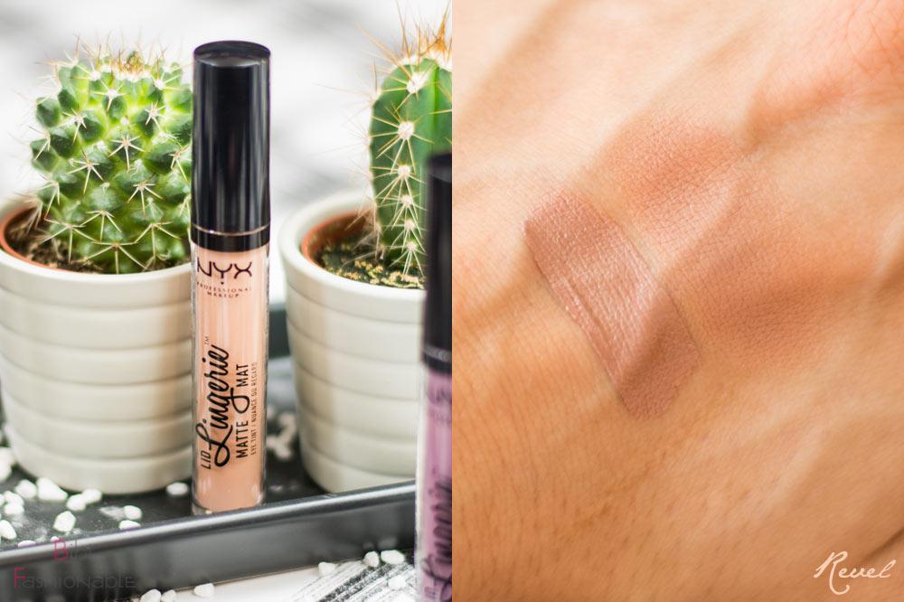 NYX Cosmetics Lid Lingerie Matte Eye Tint LIDLI 16 Revel inkl Swatch