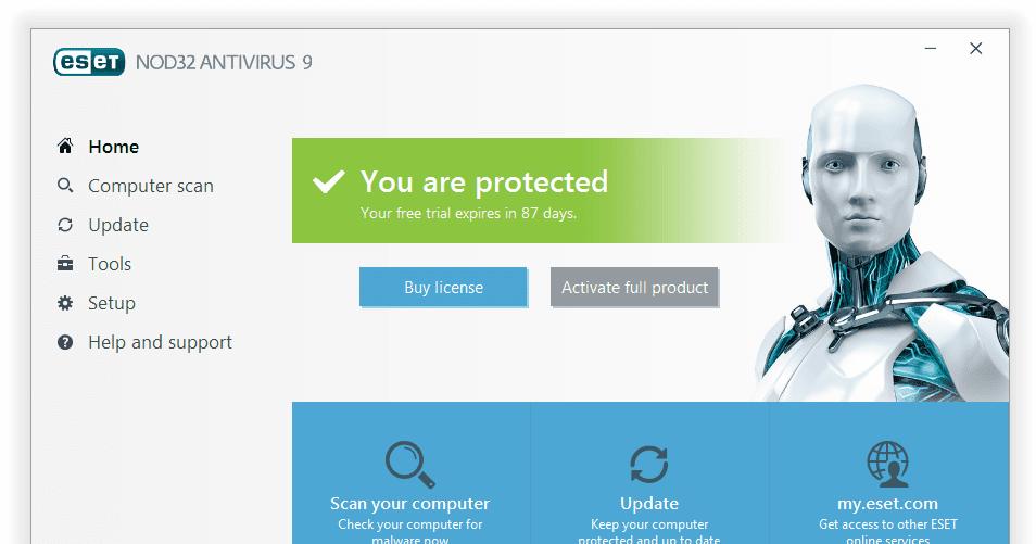eset nod32 antivirus 7 product activation key free
