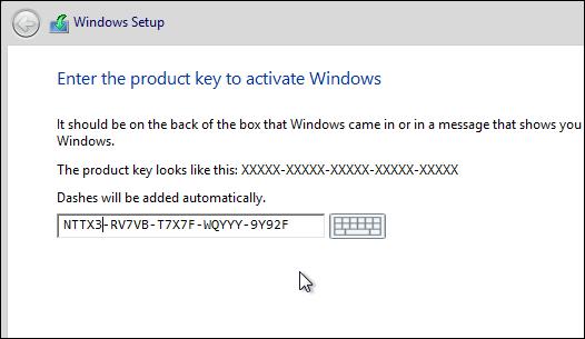 win 8 pro install key