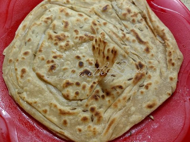 Layered Whole Wheat Paratha