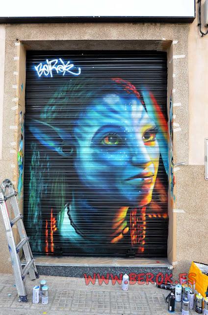 graffiti Avatar Neytiri