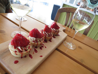 Scratch Bakery #PieholeApproved Strawberry Tart with Mike Weir 4 Barrel Chardonnay