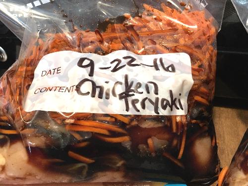 prepped freezer meal
