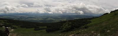 Panorama na północ z okolic Gówniaka.