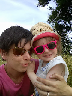 eldest and mummy on training walk